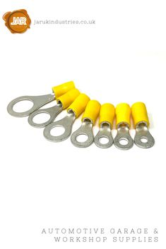 These yellow pre-insulated ring electrical crimp connector terminals feature anti-vibration copper insert terminals. They are suitable for automotive and marine cable.   High-grade vinyl (PVC) insulation makes crimping a simple task and an easy cable entry guide reduces flared wire strands minimising the risk of flash-overs.  The electro tin-plated terminals prevent oxidisation providing corrosion protection from the elements.  Available in 3.7, 4.3, 5.3, 6.4, 8.4, 10.5 and 13 mm hole…