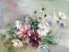 Flowers Painting original watercolor by VerbruggeWatercolor