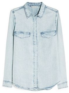 MANGO Vintage Denim Shirt on shopstyle.com