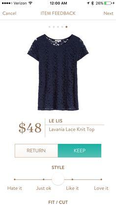 Le Lis - Lavania Lace Knit Top