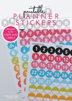 FREE Ready-to-Print Planner Stickers | Make your planner FUN and FUNCTIONAL with these pretty planner stickers!