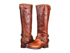 Frye Veronica Back Zip Cognac Antique Pull Up - LOVE THESE!!! Size 7