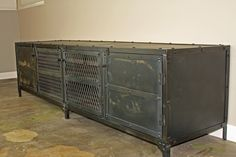 Vintage Industrial Media Console/Credenza/TV Stand by leecowen, $1,475.00