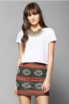 Staring At Stars Geo Jacquard Mini Skirt