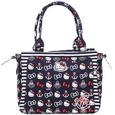 Ju Ju Be Hello Kitty Out to Sea Nautical Anchors Be Classy Diaper Bag and mom tote. Available July 19th at Kelly's Closet.