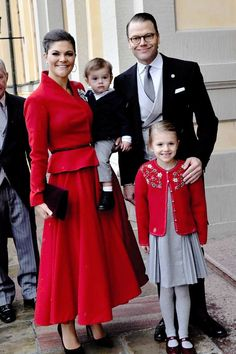 "rachelmarkle: """"the Crown Princess family attending the christening of Prince Gabriel "" """