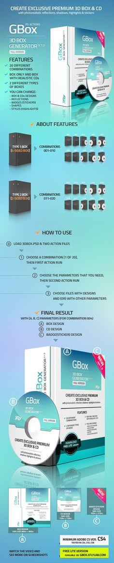 3D Box Generator - GBox v1.3 - Utilities Actions