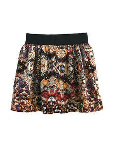 Baroque Print Mini Skirt