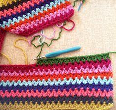 V stitch blanket - stash buster! Inc pattern