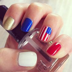 images about Olympics Inspired Nails Usa
