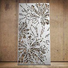 Lattice Panel: Botanical 03 Laser Cut Screens, Laser Cut Panels, Laser Cut Metal, Metal Panels, Laser Cutting, Screen Design, Gate Design, Door Design, Decorative Metal Screen
