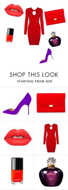 """Трэш"" by nastya-anas-mikheeva on Polyvore featuring мода, Manolo Blahnik, Mansur Gavriel, Lime Crime, Chanel и Christian Dior"