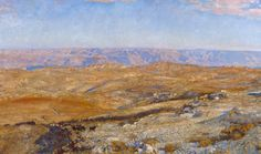 John Singer Sargent,The Mountains of Moab - Oil on canvas