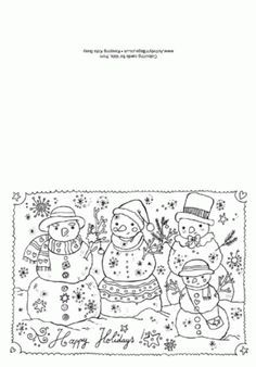 FREE printable Christmas cards to color and send to