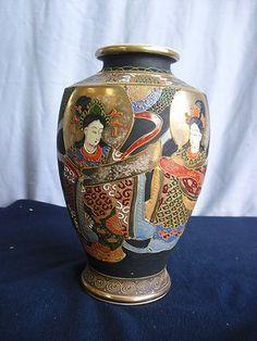 Satsuma Vase Meiji Chinese Warrior Signed Vtg Bowl Antique Porcelain Pottery Pot | eBay