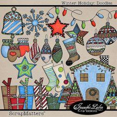 Winter Holiday: Doodles by Jennifer Labre Designs