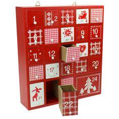 Wooden Nordic Box Advent Calendar