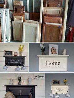 Take old cabinet doors and turn them into something amazing!