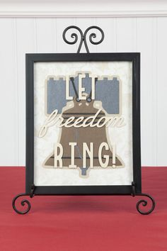 Let freedom ring! Made with the Cricut