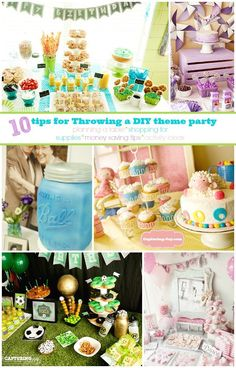 10 tips for Throwing a DIY theme party, for the Birthday Celebration Week of ideas.
