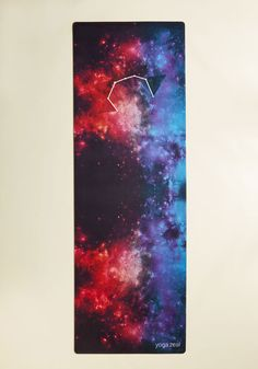 A Worthy Macrocosm Yoga Mat. Take your revitalizing practice to new dimensions by unrolling this colorful yoga mat before you stretch out! #multi #modcloth