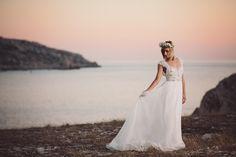 Marseille France Wedding Photographer Anna Campbell 'coco' dress Mint + melon Flower crown www.benandhopeweddings.com.au