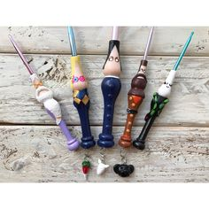 Harry Potter Inspired Ergonomic Crochet Hooks 3 Piece Set or Sold Individually / Hook-N-Clay