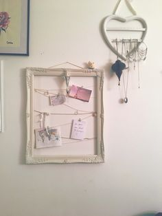 "Frame I made myself. With pictures I printed out, movie tickets and a note where I wrote ""be your own kind of beautiful """