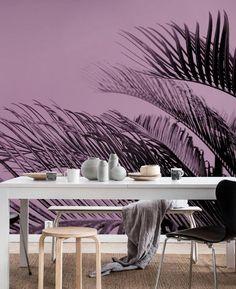 Ultraviolet Palms Wall mural | Photo wallpaper - Happywall