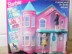 #Barbie  90s Barbie Dream house with elevator! I had this and never stopped playing with it!