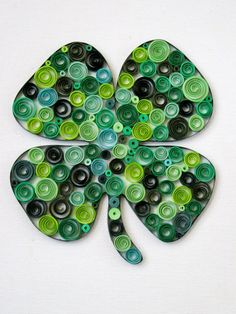 Four Leaf Clover Wall Art Paper Quilled Art Four by SarahEGillis