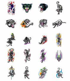 Panther tattoo design ideas from Tattoo-Art.com