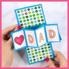 Threat the dad of the house with an amazing Father's day card. This Twist and Pop Fathers Day Card is made to impress. Threat the dad of the house with an amazing Father's day card. This Twist and Pop Fathers Day Card is made to impress. Diy Crafts For Gifts, Fathers Day Crafts, Diy Arts And Crafts, Fun Crafts, Crafts For Kids, Kids Diy, Fathers Day Ideas, Fathers Gifts, Card Crafts
