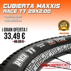 Maxxis #RaceTT 29x2.00 una de las mejores #cubiertasmontaña #rodadoras del mercado usadas tanto en rueda trasera como delantera. #Maxxis la marca usada por nuestros ciclistas olímpicos en Rio. Te la ofrecemos al MEJOR #PRECIO DEL MERCADO en------> http://www.deporprecio.com/es/74-cubierta-maxxis-race-tt-exo-tr-29-x-2-00.html #cubiertas #montaña #Bike #ciclismo #Btt #Mtb
