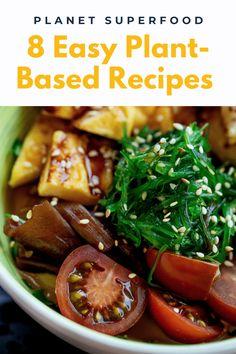 Vegan Lunch Recipes, Superfood Recipes, Veggie Recipes, Whole Food Recipes, Cooking Recipes, Healthy Recipes, Plant Based Diet, Plant Based Recipes, Energy Vitamins