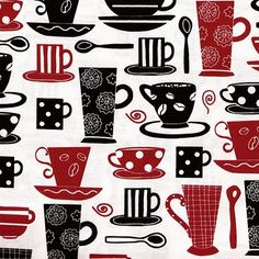 Always loved black,white and red. The tea and coffee cups are right up my alley too.