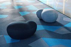blues, by ecofloors Carpet Tiles, Carpet Flooring, Rubber Flooring, Vinyl Flooring, Concrete Floors, Hardwood Floors, Office Floor, Outdoor Carpet, Types Of Flooring