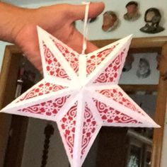 3D Paper Star Lantern with Lace Cutouts SVG CUTTING FILE   Etsy 3d Paper Star, Paper Stars, Snowflake Cutouts, Paper Snowflakes, Paper Star Lanterns, Leaf Cutout, Battery Operated Tea Lights, Star Svg, Dyi Crafts