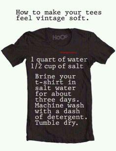 Soft t-shirts