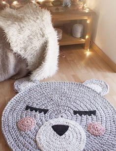 tapetes em croche de urso