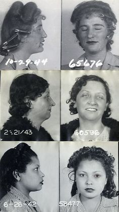 Mugshots, NYC, 1940s
