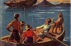 The Famous Five books by Enid Blyton, lovely vintage illustrations Famous Five Books, The Famous Five, Enid Blyton Books, Book Sites, Treasure Island, Treasure Maps, Book Characters, The Guardian, My Childhood