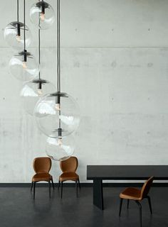 Contemporary blown glass pendant lamp - SELENE by Sandra Lindner - CLASSICON
