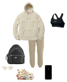 """""""Untitled #1000"""" by mikobe ❤ liked on Polyvore featuring Balenciaga, Yeezy by Kanye West, Fendi, Mykita and NIKE"""