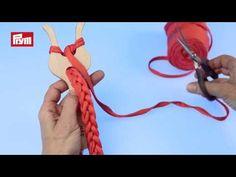 Fourche à tricoter en bois - YouTube