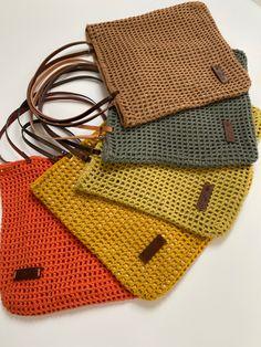 Crochet Market Bag, Crochet Tote, Crochet Handbags, Love Crochet, Knit Crochet, Crochet Rug Patterns, Crochet Designs, Knit Basket, Crochet World