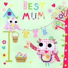 Designer Rachel Taylor on the Print and Pattern blogspot with some beautiful mother day cards!