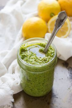 Vegan Pesto with Lemon and Pistachios - Connoisseurus Veg