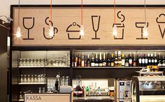Aschan Deli interior design and branding by BOND, Helsinki store design ideas design and decoration design bedrooms Coffee Shop Design, Cafe Design, Store Design, Design Design, Design Ideas, Logo Design, Design Inspiration, House Design, Restaurant Branding