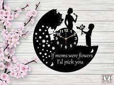 Ceas de Perete Ziua Mamei, 8 Martie Martie, Diy And Crafts, Flowers, Home Decor, Style, Swag, Decoration Home, Room Decor, Royal Icing Flowers
